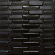 Самоклеющая 3д панель кладка черный 700*770*7мм