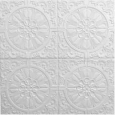 Самоклеющаяся 3D панель на потолок круги 700x700x7,5мм