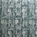 Самоклеющая 3д панель бамбуковая кладка мятная 700*700*8мм
