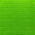Самоклеющая 3д панель под кирпич зеленый 700*770*5мм