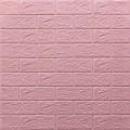 Самоклеющая 3д панель под кирпич розовый 700*770*5мм