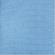 Самоклеющая 3д панель под кирпич голубой 700*770*5мм