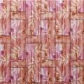Самоклеющая 3д панель бамбуковая кладка оранжевая 700*700*8мм