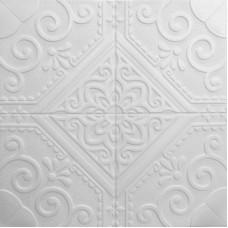 Самоклеющаяся 3D панель на потолок ромб 700x700x7,5мм