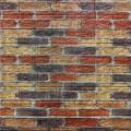 Самоклеющая 3д панель под екатеринославский кирпич бежево-коричневый 700*770*5мм
