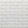 Самоклеющая 3д панель под кирпич белый 700*770*7мм