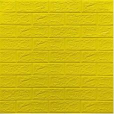 Самоклеющая 3д панель под кирпич желтый 700*770*5мм