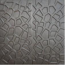 Самоклеющаяся 3D панель на потолок серебряная паутина 700x700x8мм