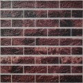 Самоклеющая 3д панель под кирпич бордовый микс 700*770*5мм