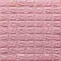 Самоклеющая 3д панель под кирпич розовый 700*770*7мм