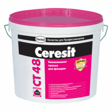 CERESIT СТ-48 Краска силиконовая фасадная 10л., шт