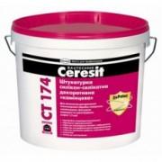 """CERESIT CT-174 Штукатурка декоративная силикон-силикатная """"камешковая""""(зерно 1,5мм) база 25 кг , шт"""