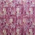 Самоклеющая 3д панель бамбуковая кладка розовая 700*700*8мм