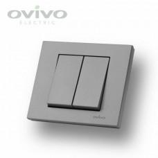 Выключатель двойной цветной Oviva