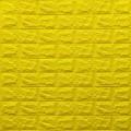 Самоклеющая 3д панель под кирпич желтый 700*770*7мм