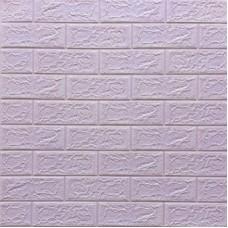 Самоклеющая 3д панель под кирпич светло-фиолетовый 700*770*5мм