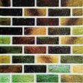 Самоклеющая 3д панель под кирпич зеленый микс 700*770*5мм