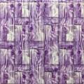 Самоклеющая 3д панель бамбуковая кладка фиолет 700*700*8мм