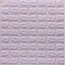 Самоклеющая 3д панель под кирпич светло-фиолетовый 700*770*7мм