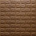 Самоклеющая 3д панель под кирпич коричневый 700*770*7мм