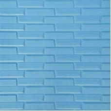Самоклеющая 3д панель кладка голубая 700*770*7мм