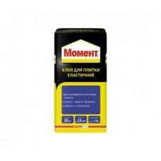 Клей для плитки эластичный МОМЕНТ (термостойкий), 25кг
