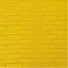 Самоклеющая 3д панель кладка желтая 700*770*7мм