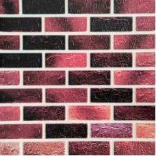 Самоклеющая 3д панель под кирпич розовый микс 700*770*5мм