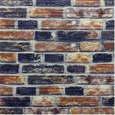 Самоклеющая 3д панель под екатеринославский кирпич cеро-синий 700*770*5мм