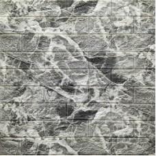 Самоклеющая 3д панель под кирпич мрамор 700*770*5мм