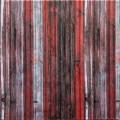 Самоклеющая 3д панель бамбук красно-серый 700*700*8мм