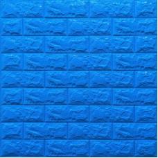 Самоклеющая 3д панель под кирпич синий 700*770*7мм