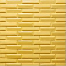 Самоклеющая 3д панель кладка желто-песочная 700*770*7мм