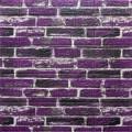Самоклеющая 3д панель под екатеринославский кирпич фиолетовый 700*770*5мм