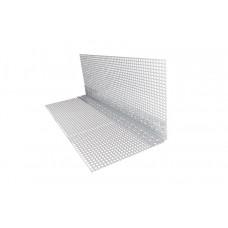 Уголок ПВХ перфорированный с сеткой 2,5 м