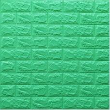 Самоклеющая 3д панель под кирпич мятный700*770*7мм