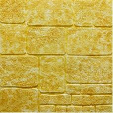 Самоклеющая 3д панель под камень желтый мрамор 700*700*8мм