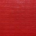Самоклеющая 3д панель под кирпич красный 700*770*5мм