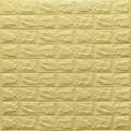Самоклеющая 3д панель под кирпич желто-песочный 700*770*7мм
