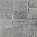 Самоклеющая 3д панель под камень серебро 700*700*8мм