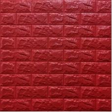 Самоклеющая 3д панель под кирпич красный 700*770*7мм