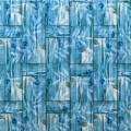 Самоклеющая 3д панель бамбуковая кладка бирюза 700*700*8мм
