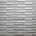 Самоклеющая 3д панель кладка серебро 700*770*7мм