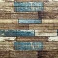 Самоклеющая 3д панель под дерево синий 700*770*5мм