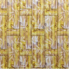 Самоклеющая 3д панель бамбуковая кладка желтая 700*700*8мм