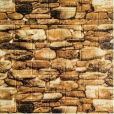 Самоклеющая 3д панель под камень 700*770*5мм