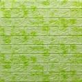 Самоклеющая 3д панель под кирпич салатовый мрамор 700*770*5мм