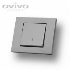 Выключатель одинарный цветной Oviva