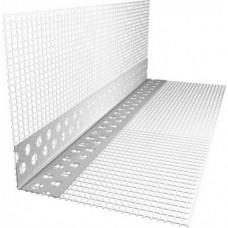 Уголок алюминиевый перфорированный с сеткой 3м
